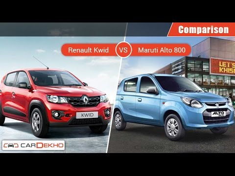 Renault Kwid VS Maruti Alto 800 | Comparison Video | CarDekho.com