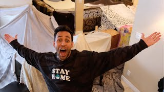 Massive Indoor Fort!! | Anwar Jibawi