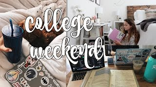 college weekend in my life: reorganizing + cleaning, grocery haul, getting things done!