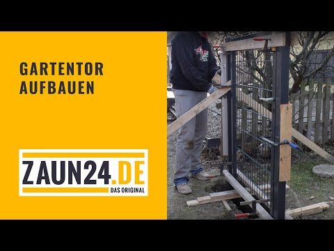 Gartentor aufbauen - Montageanleitung | ZAUN24