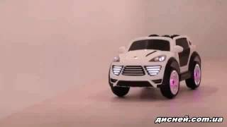 Детский электромобиль M 2735 EBLR-1 Porsche Cayenne, мягкое сиденье, белый - дисней.com.ua