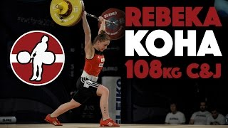 Rebeka Koha (53) - 108kg Clean & Jerk Slow Motion