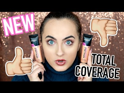 NEW L'Oréal Infallible Total Cover Foundation Review & Demo