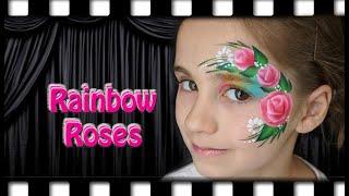Rainbow Rose Face Painting Tutorial