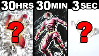 ⏰ Drawing in 30 HOURS | 30 MINUTES | 3 SECONDS 🖌 ART CHALLENGE! 🔥 SATISFYING!