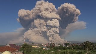 video: Watch: Mount Sinabung volcano in Indonesia erupts, sending hot ash into sky