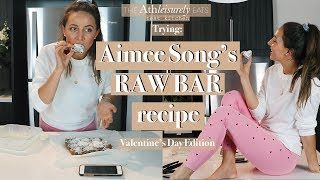 Trying Aimee Song's Raw Bar Recipe - Healthy Vegan Treat
