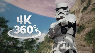 Star Wars Battlefront II Yavin 4 360° Video in 4K!