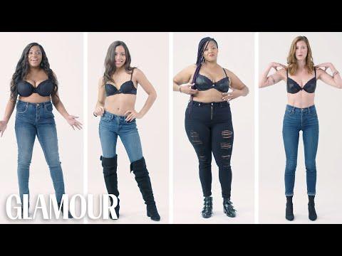 Women Sizes 32A Through 42D Try On the Same Bra (Fenty) | Glamour