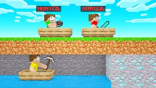 HUNTERS VS SPEEDRUNNERS In BOATS! (Minecraft)