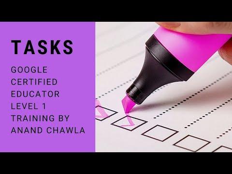 Google Tasks - Google Certified Educator Level 1 Training - new ...