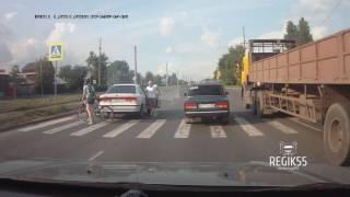Хорошая реакция пешехода, Омск
