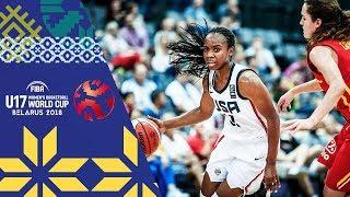 USA v Spain - Full Game - Quarter-Finals - FIBA U17 Women's Basketball World Cup 2018