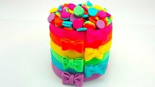 Пластилин для детей учимся лепить торт