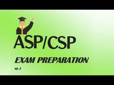 ASP/CSP (Certified Safety Professional) Exam preparation - YouTube