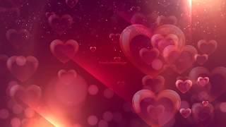 heart falling effect video | Wedding heart background video | #Wedding | romantic background effect