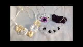Handmade Fabric Flower Statement Necklaces, Bib Necklaces
