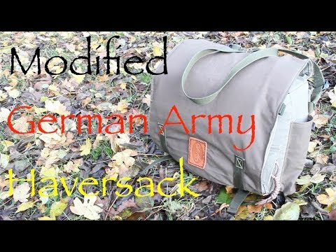 Haversack Modifications. Modifying a Bundeswehr Kampftasche. West German Field Pack.