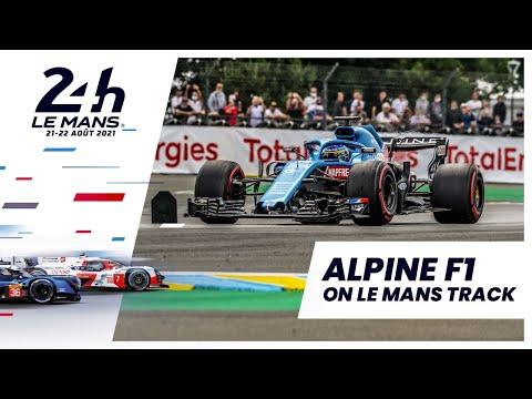 アロンソがアルピーヌF1をデモンストレーション走行。ル・マン24時間レース 動画
