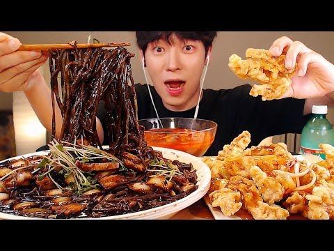 MUKBANG ASMR|쟁반 짜장면과 탕수육,짬뽕 먹방 |チャパゲティ Black Bean Noodles Eatig sounds [SIO ASMR 시오]