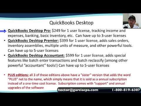 QuickBooks Online vs QuickBooks Desktop (Pro, Premier, or Enterprise)