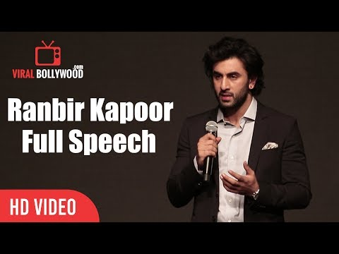 Ranbir Kapoor Full Speech | YRF's New Talent Aadar Jain