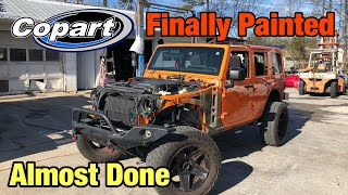 Rebuilding a Wrecked 2013 Jeep Wrangler Jk From Copart Part 11