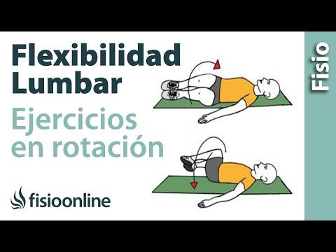Ejercicio de flexibilidad de lumbares en rotación y lordosis