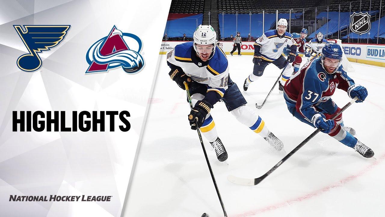 Blues vs Avalanche | Wednesday, January 13, 2021