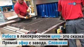 Работа в лакокрасочном цеху - это сказка. Словакия. Прямой эфир с завода во время тура украинцев.