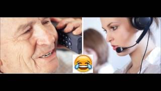 Call Center .. Fantastica Telefonata Tra Un Arzillo Anziano Ed Un Operatore Telefonico.