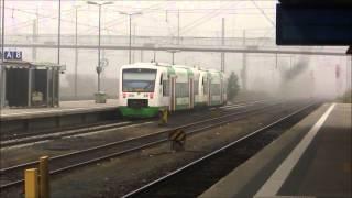 preview picture of video 'Bahnhof Hof Hauptbahnhof in Nebel [ 04.10.2014 ]'