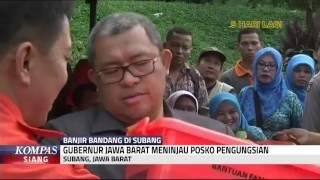 Gubernur Jawa Barat Tinjau Posko Pengungsian