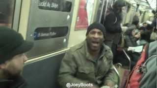 Crazed Racist Verbally Assaults Train Passengers