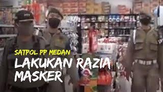 Satpol PP Kota Medan Lakukan Razia pada Warga yang Tak Gunakan Masker saat Keluar Rumah