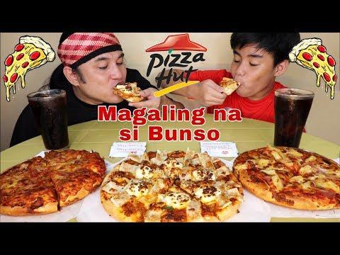 Triple Pizza Treat, Lasagna Pizza,Bacon Cheeseburger Pizza,Hawaiian Supreame Pizza Pinoy Mukbang!