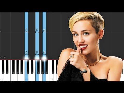 Miley Cyrus - Slide Away (Piano Tutorial)