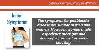 Gallbladder Symptoms in Women