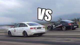 AUDI RS6 Sedan vs BMW M6 - RACE!