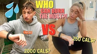 Who can burn the most calories in 24HOURS?! Fitness challenge VS my brother