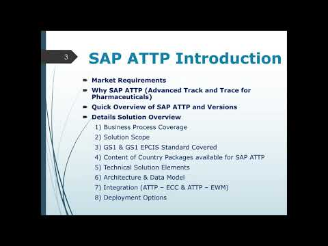 SAP ATTP 3.0 Online Training - YouTube