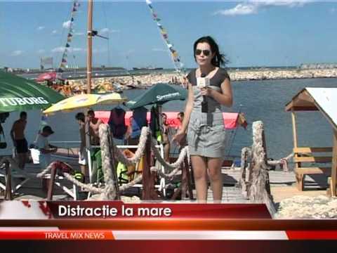 Distracţie pe apă, la mare – VIDEO