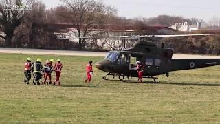 Posredovanje helikopterja Slovenske vojske v Ljutomeru