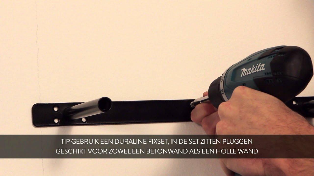 HOW TO: Duraline zwevende wandplank/XL- paneel monteren