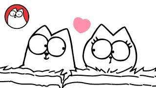 Head Over Heels (A Valentines Special) - Simon's Cat | BLACK & WHITE