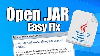 How to open Java files in Windows - Run .JAR Files