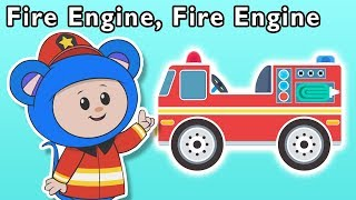 Fire Engine Fire Engine + More | Mother Goose Club Nursery Rhymes