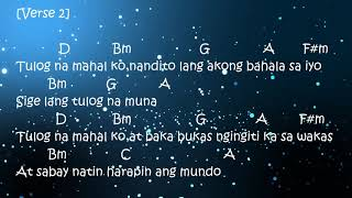 TULOG NA-SUGARFREE(CHORDS AND LYRICS)