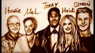 Must see! Sand artist Kseniya Simonova draws all AGT stars in sand!!! tribute to all AGT Champions!