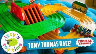 RARE THOMAS TRAIN TOMY! Thomas Train Race on the Rails Playset | Fun Toy Trains  & Children